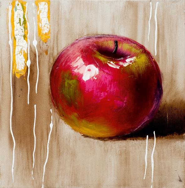 schilderij appel 25x25
