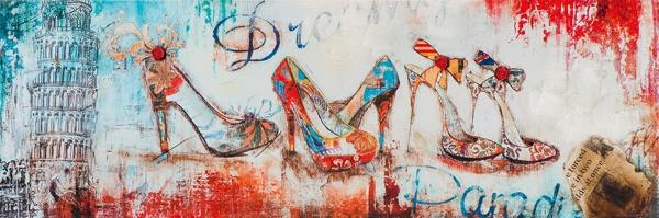 schilderij pumps 30x90