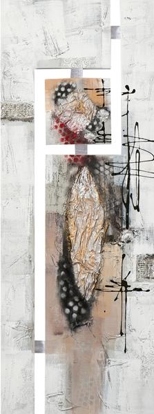 schilderij abstract 45x120