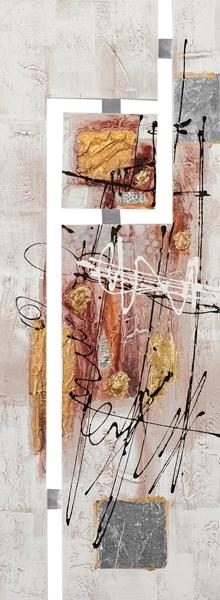 schilderij 45x120 abstract