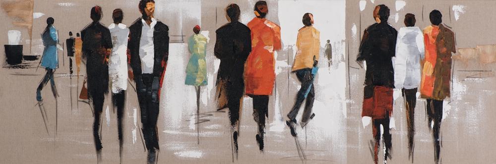 schilderij figuratief 50x150