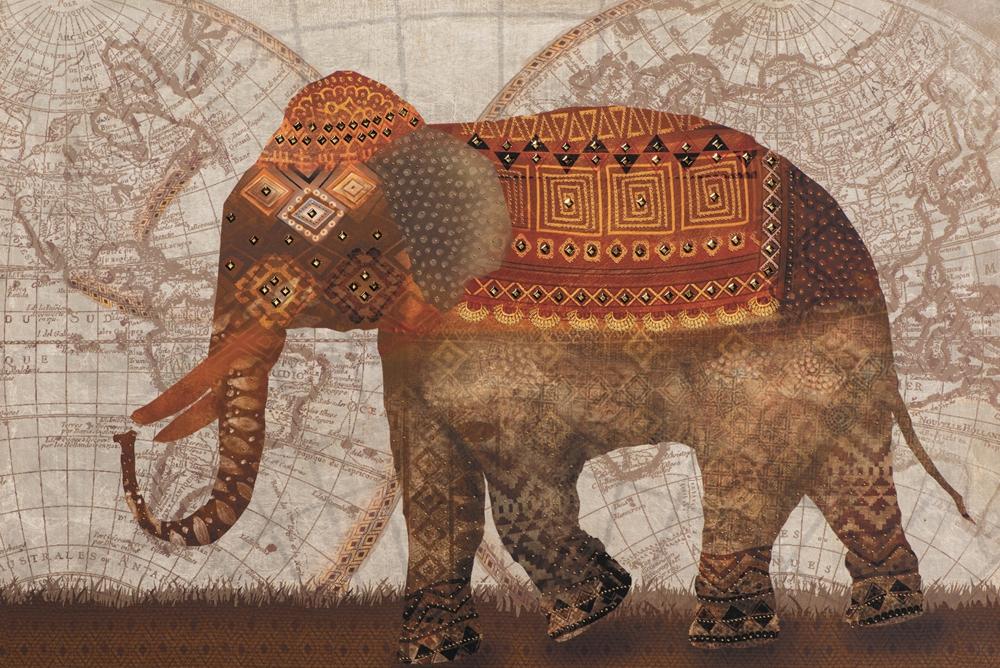Schilderij olifant 60x90