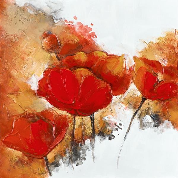 Rode bloemen 40x40