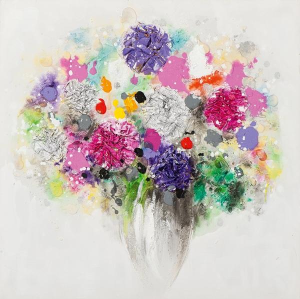 Bloemen in vaas 40x40