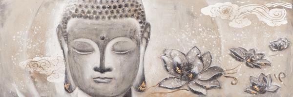 Schilderij Boeddha 60x160