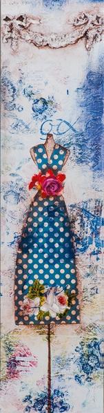 schilderij jurk 30x120