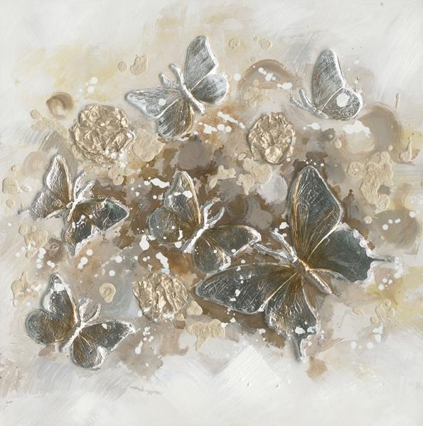 schilderij Vlinders 60x60