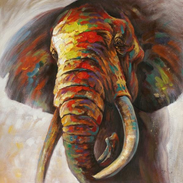 Schilderij olifant 115x115