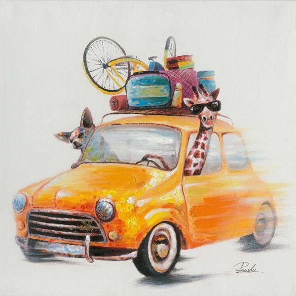 schilderij Mini Cooper 70x70