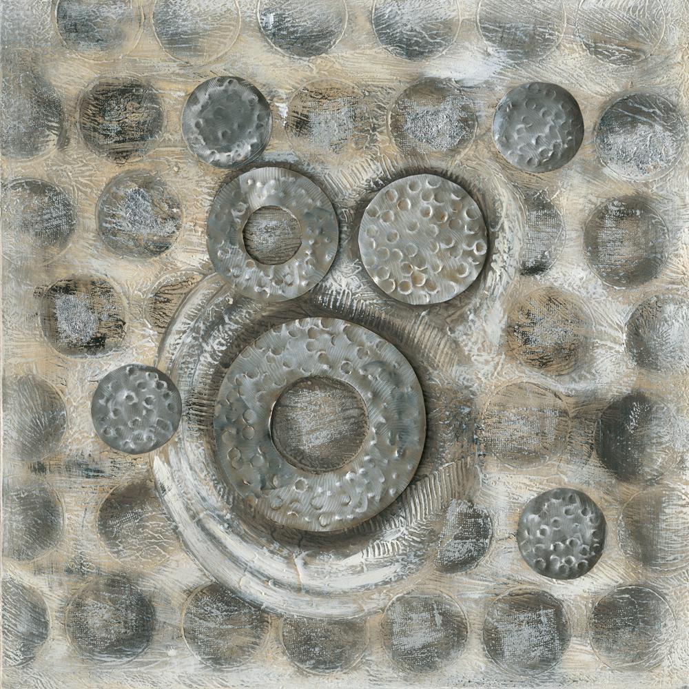 schilderij metaal cirkel 70x70