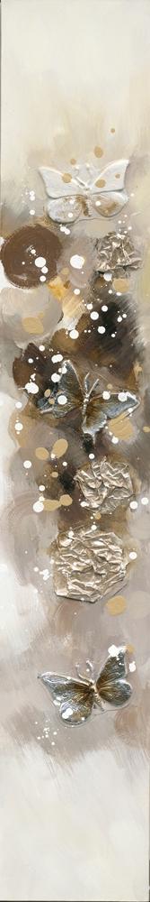 schilderij vlinders 25x150