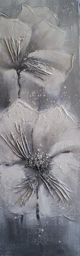 Schilderij bloemen 40x120
