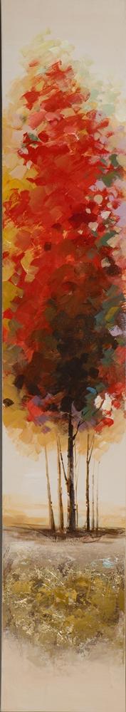 schilderij 25x150 bomen