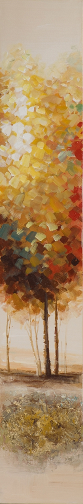 Schilderij bomen 25x150