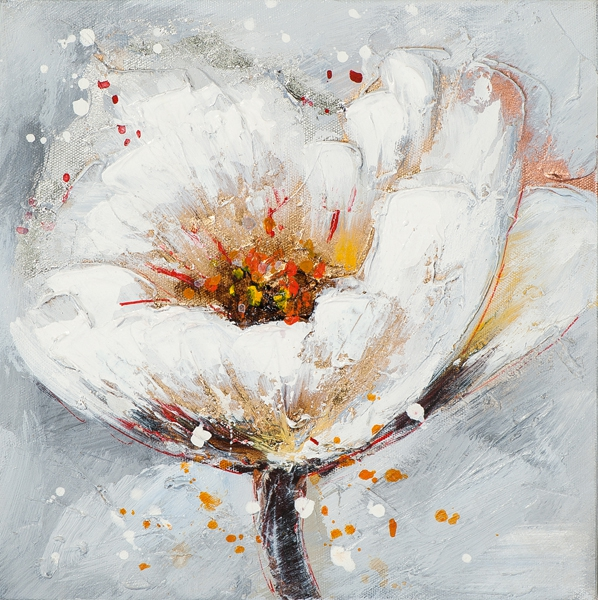 schilderij bloem 25x25