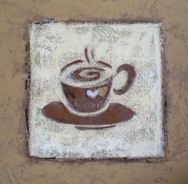 schilderij koffie kop 40x40