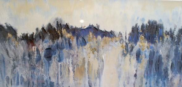 schilderij modern hoogglans 70x150