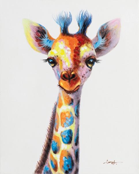 Schilderij giraffe 40x50