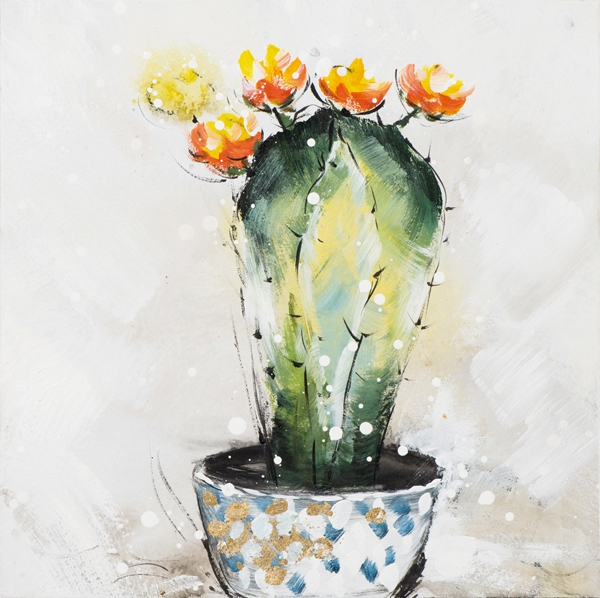 cactus in pot 40x40