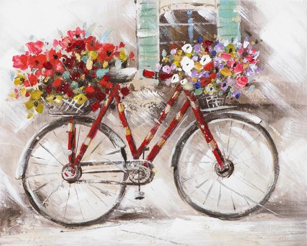 Schilderij fiets 40x50