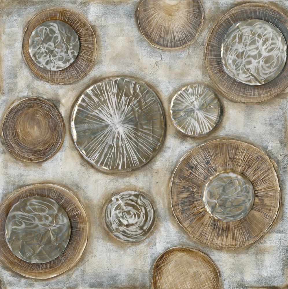 schilderij cirkels 100x100