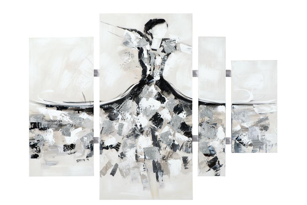 Schilderij vrouw danseres 4-luik 100x134