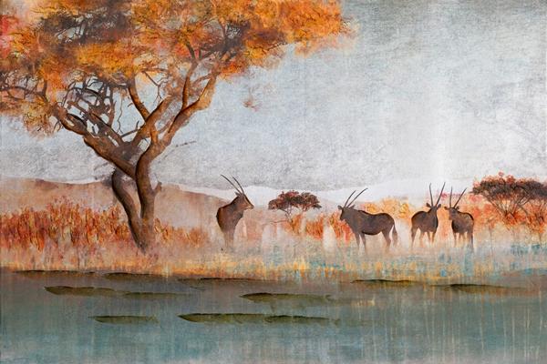 Schilderij landschap 100x150