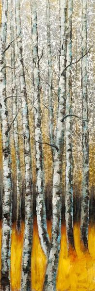 schilderij 40x120 bomen