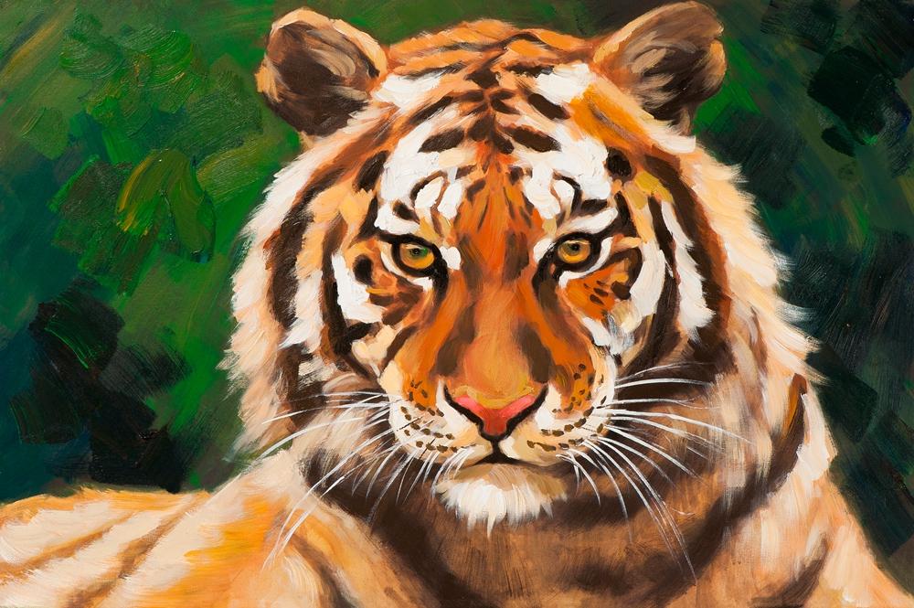 Schilderij 60x90 tijger
