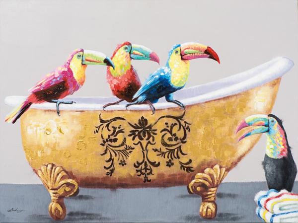 schilderij toekans 90x120