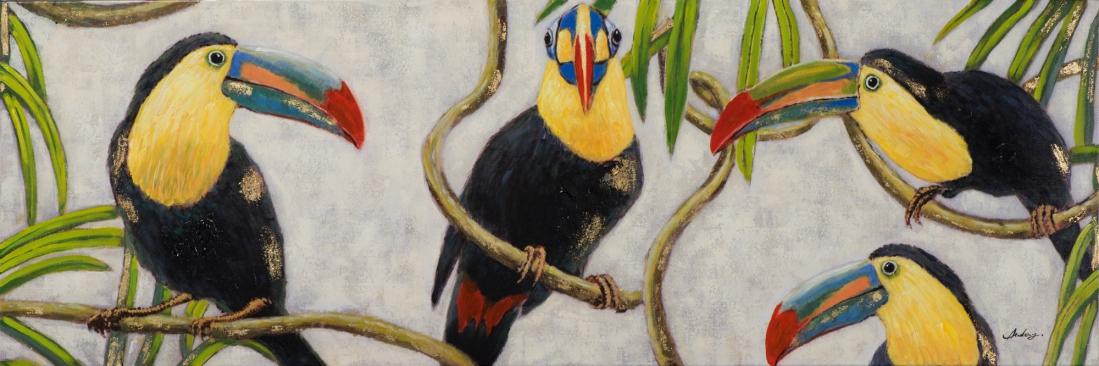 schilderij toekans 50x150