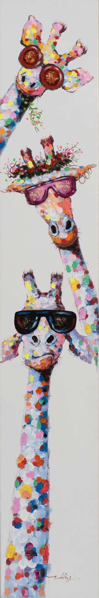 schilderij giraffen 25x150
