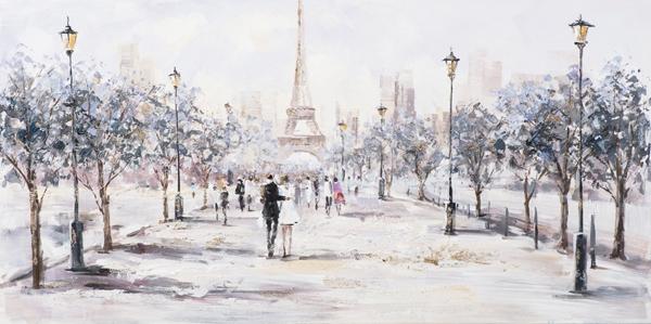 Schilderij stadsgezicht Parijs 70x140