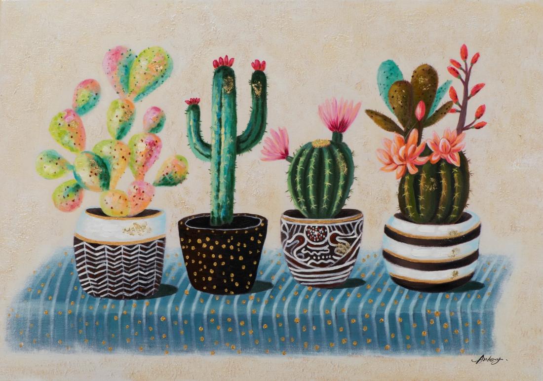 Schilderij cactus 70x100