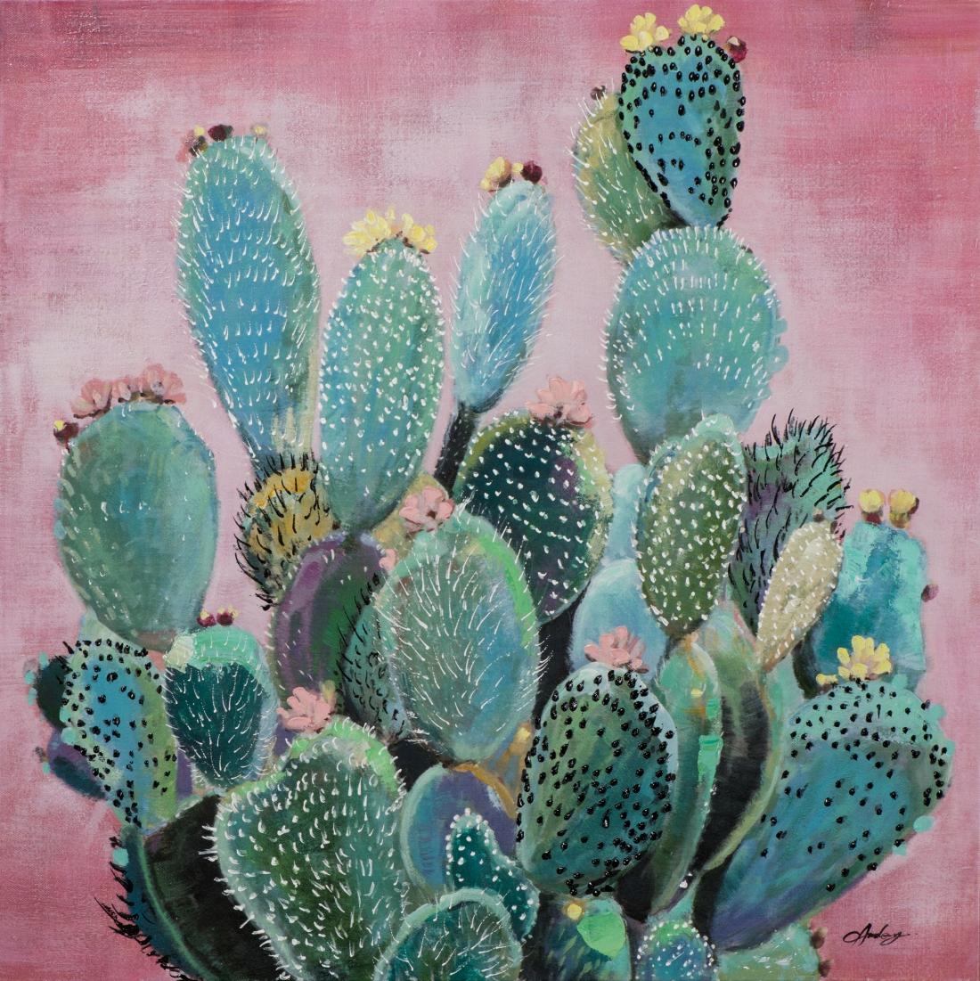 Schilderij cactus 80x80 Nieuw!