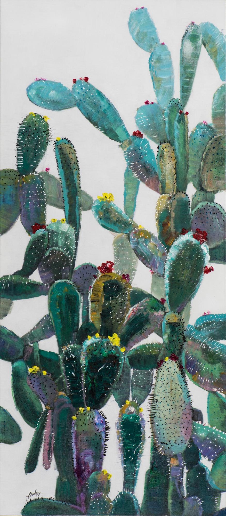 Schilderij cactus 70x160 Nieuw!