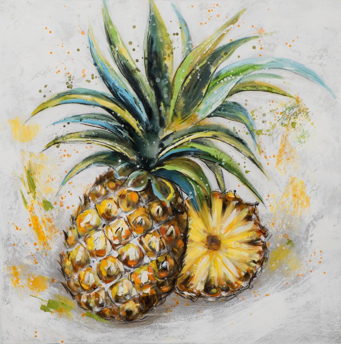 Schilderij ananas 60x60