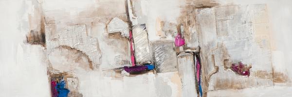 Schilderij abstract 30x90