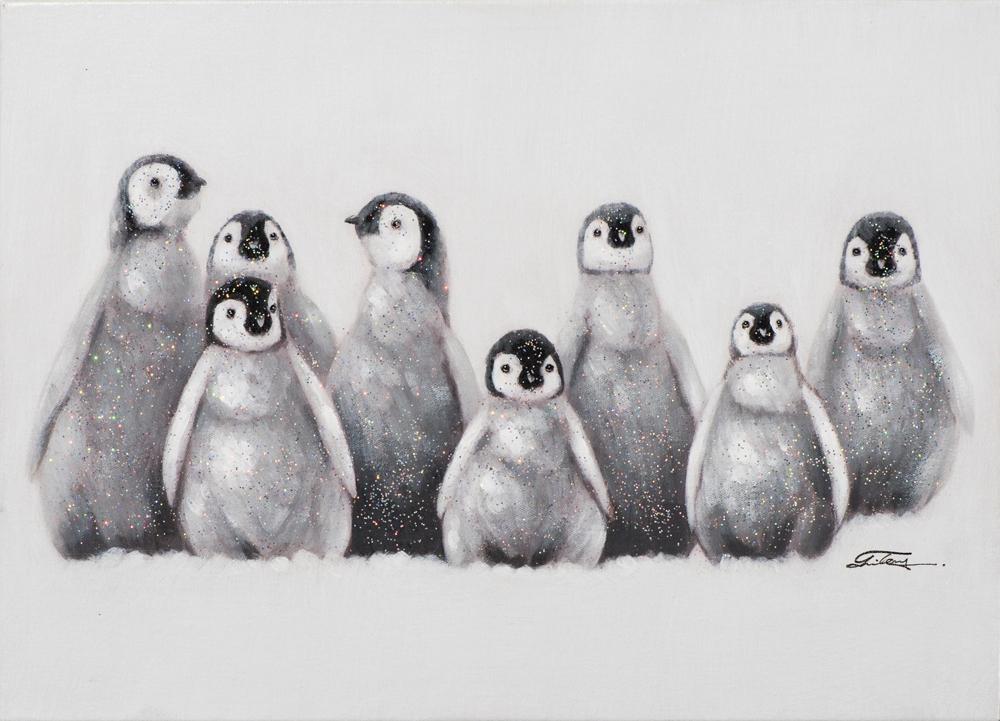 Schilderij pinguins 50x70