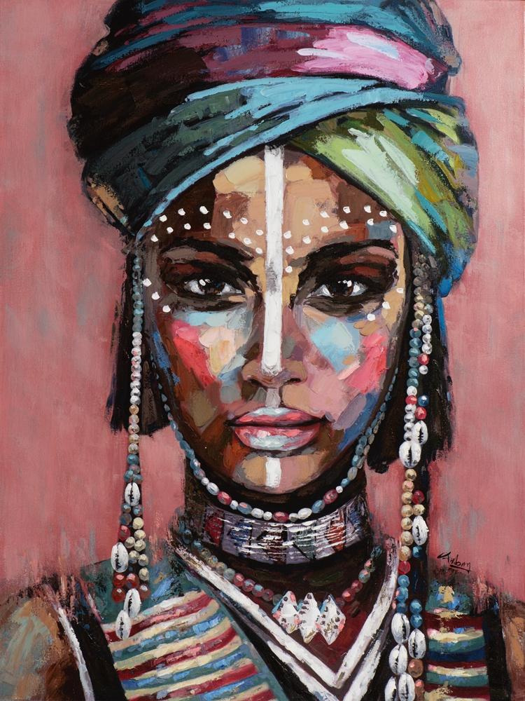 Schilderij woman 90x120