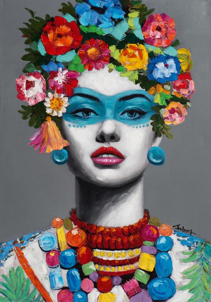 Schilderij woman 70x100