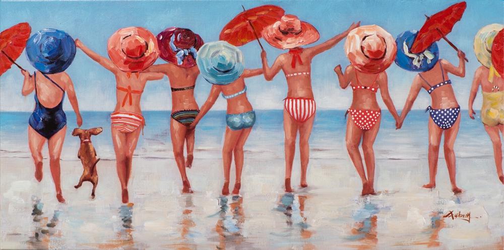 Schilderij strand 50x100