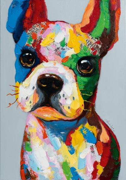 Schilderij hond 70x100