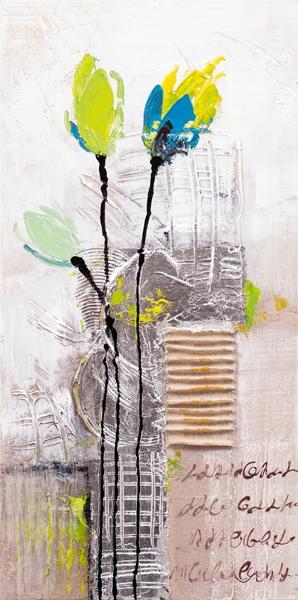 Schilderij tulp 30x60