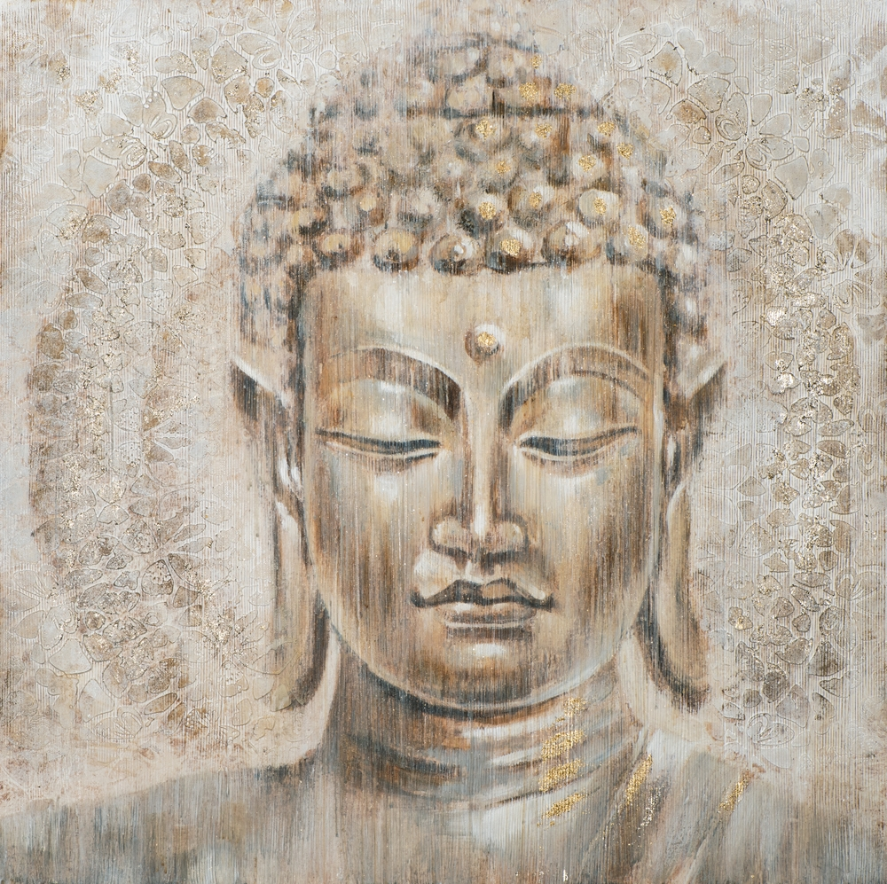 Schilderij Boeddha 100x100