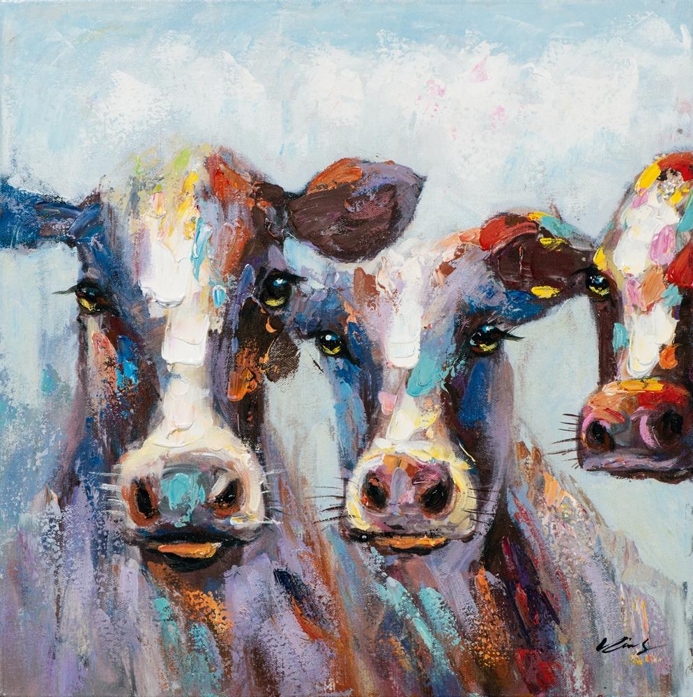 Schilderij koeien 60x60