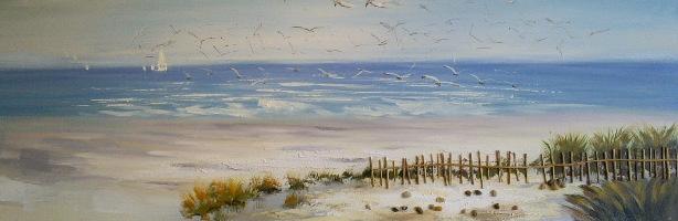 schilderij Duinlandschap 50x150
