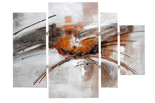 Schilderij abstract 4-luik 115x159
