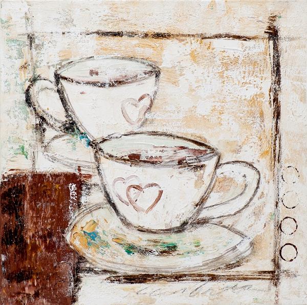 schilderij Cappucino koffie 40x40