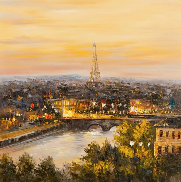 Schilderij 100x100 Parijs